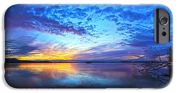 Winter iPhone Cases - Thin Ice 2 Panorama iPhone Case by Bill Caldwell -        ABeautifulSky Photography