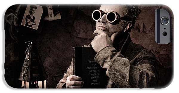 Dr Who iPhone Cases - Things to consider - Steampunk - World domination iPhone Case by Gary Heller