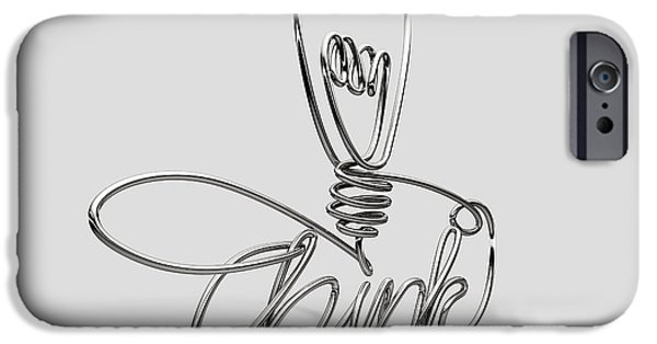 Ponder iPhone Cases - Think Bent and Shaped  Wire Lightbulb iPhone Case by Allan Swart