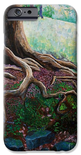 Warner Park Paintings iPhone Cases - Thinking About Eternity iPhone Case by Arthur Witulski