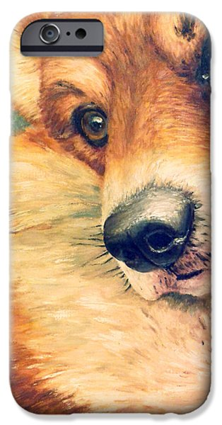 Dogs iPhone Cases - Thinking about life. iPhone Case by Irina Sumanenkova