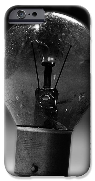 Electronics Photographs iPhone Cases - Thinking Bulb iPhone Case by Martin Newman