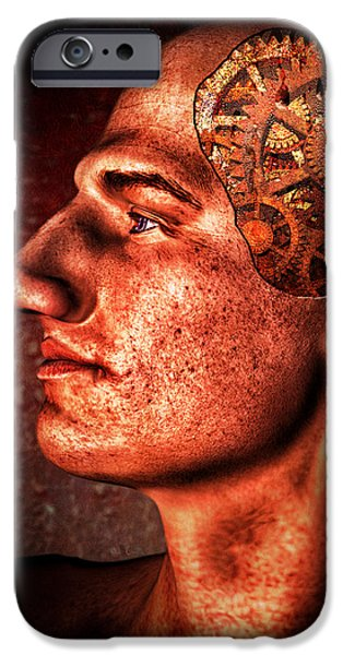 Thinking Man iPhone Case by Bob Orsillo