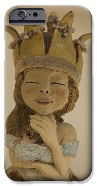 Decor Ceramics iPhone Cases - Thinking of Alice iPhone Case by Dorienne Carmel