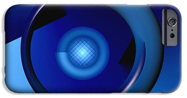 Business Digital iPhone Cases - Thinking of Blue iPhone Case by Wendy J St Christopher