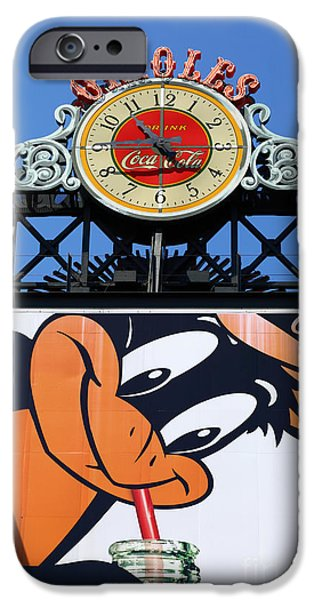 Camden Yards iPhone Cases - Thirsty Oriole iPhone Case by James Brunker