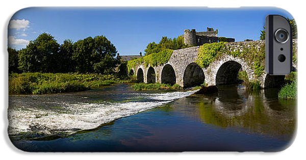 Connection iPhone Cases - Thirteen Arch Bridge Over The River iPhone Case by Panoramic Images