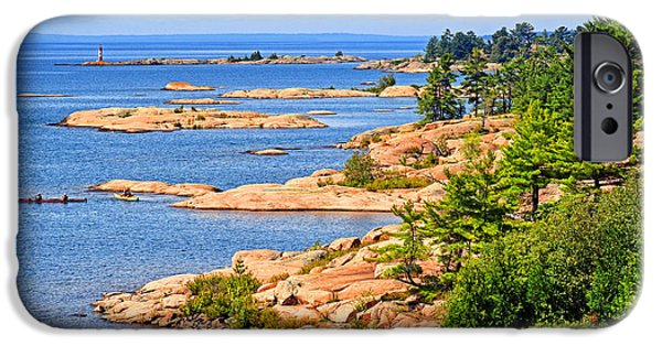 Killarney Provincial Park iPhone Cases - Thirty Thousand Islands iPhone Case by Charline Xia