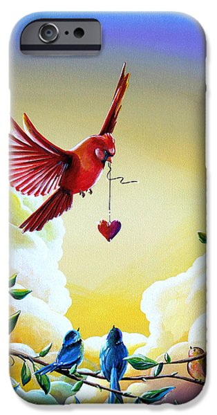 Blue Jay iPhone Cases - This Heart Of Mine iPhone Case by Cindy Thornton