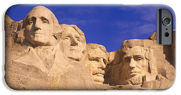 Statue Portrait iPhone Cases - This Is A Close Up View Of Mount iPhone Case by Panoramic Images