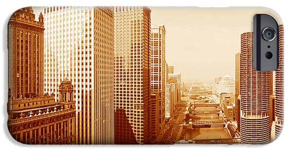 Wrigley iPhone Cases - This Is A Sepiatone View Looking iPhone Case by Panoramic Images