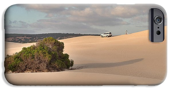 Sand Dunes Pyrography iPhone Cases - This is Australia iPhone Case by Katarina Smelikova