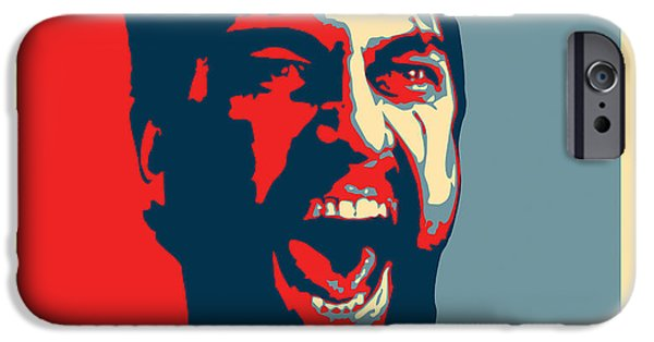 Obama iPhone Cases - This Is Sparta iPhone Case by Allan Swart