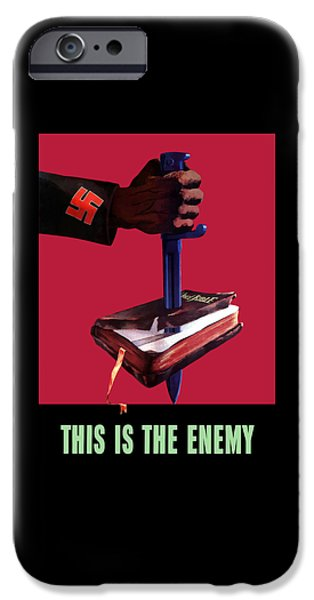 Bible Mixed Media iPhone Cases - This Is The Enemy iPhone Case by War Is Hell Store