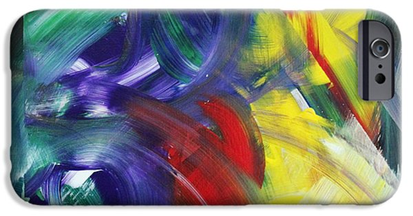 Abstract Expression iPhone Cases - This is the Place iPhone Case by Richard Day