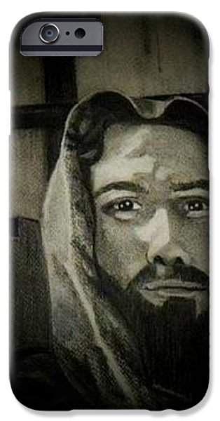 Son Of God Drawings iPhone Cases - This Is The Son Of God iPhone Case by Stephan  Rowland