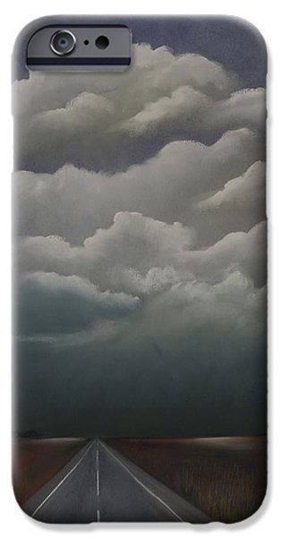Field. Cloud Pastels iPhone Cases - This Menacing Sky iPhone Case by Cynthia Lassiter