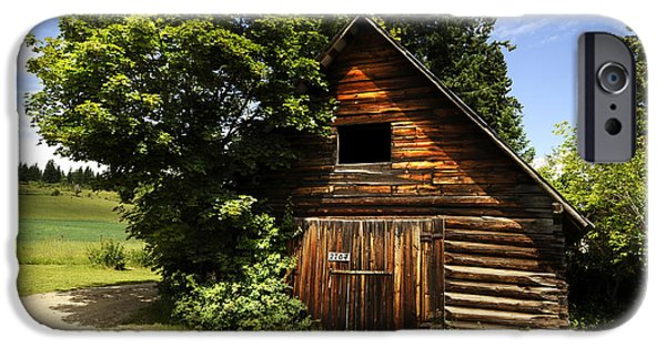 Old Barns iPhone Cases - This Old Barn in Grindrod iPhone Case by Randy Giesbrecht