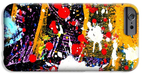 Abstract Expressionism iPhone Cases - This Painting Has A Life Of Its Own II iPhone Case by John  Nolan