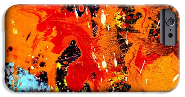 Abstract Expressionism iPhone Cases - This Painting Has A Life Of Its Own IV  iPhone Case by John  Nolan