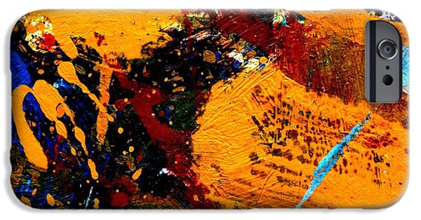 Abstract Expressionism iPhone Cases - This Painting Has A Life Of Its Own V  iPhone Case by John  Nolan