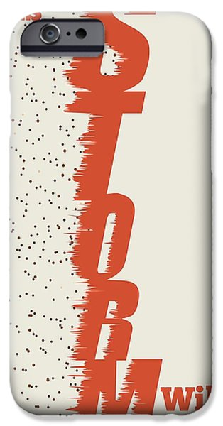 Storm iPhone Cases - This Storm Will Pass Motivation Quote iPhone Case by Lab No 4 - The Quotography Department