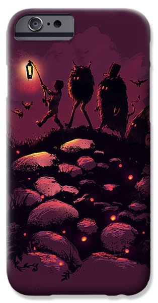 Surreal Landscape Digital iPhone Cases - This Way Guys iPhone Case by Budi Kwan