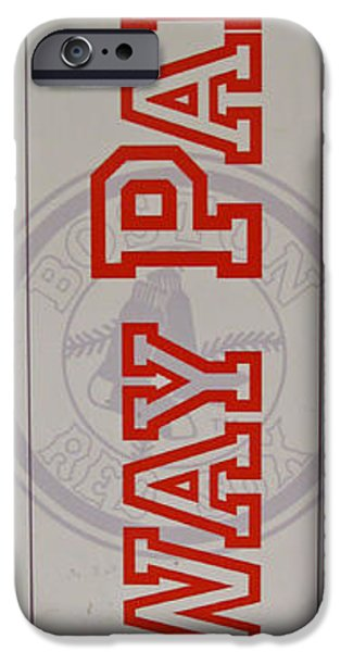 Boston Red Sox iPhone Cases - This Way to Fenway iPhone Case by Barbara McDevitt