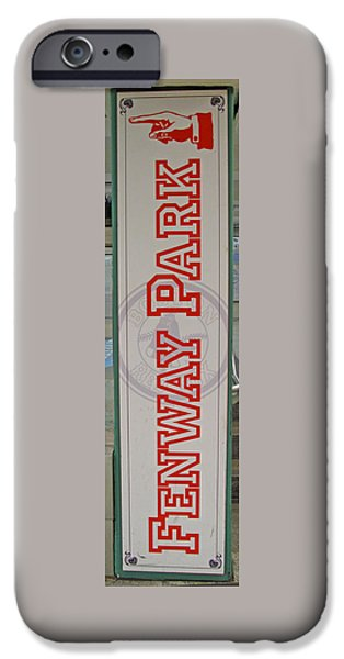 Red Sox iPhone Cases - This Way to Fenway iPhone Case by Barbara McDevitt