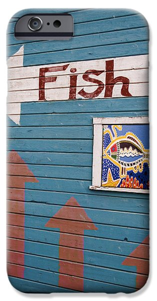 This Way to the Fish iPhone Case by Carol Leigh