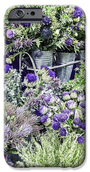 United iPhone Cases - Thistle and Heather iPhone Case by Thomas Chamberlin