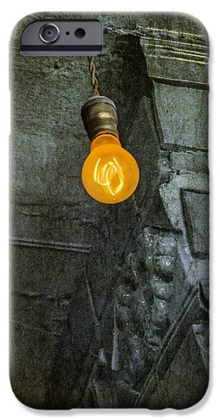 Light Bulb iPhone Cases - Thomas Edison Lightbulb iPhone Case by Susan Candelario