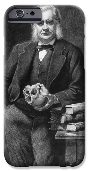 Print Photographs iPhone Cases - Thomas Henry Huxley 1825-95 Etched By Leopold Flameng 1831-1911 1885 Etching iPhone Case by John Collier