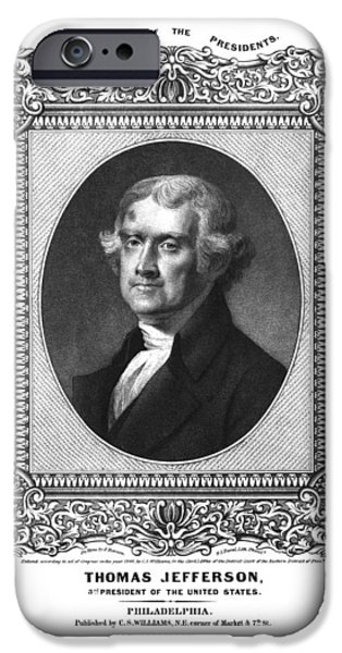 Thomas Jefferson iPhone Case by Aged Pixel