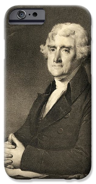 Thomas Jefferson iPhone Cases - Thomas Jefferson iPhone Case by American School