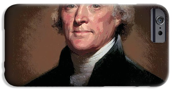 Constitution iPhone Cases - Thomas Jefferson iPhone Case by Daniel Hagerman