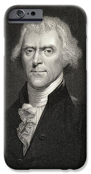 Thomas Jefferson iPhone Cases - Thomas Jefferson iPhone Case by English School