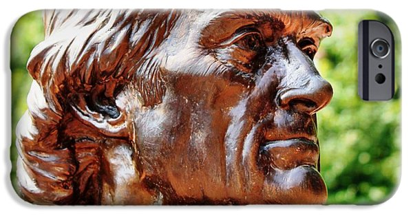 Patriotism iPhone Cases - Thomas Jefferson iPhone Case by Judy Palkimas