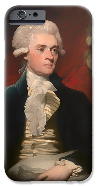 American Revolution iPhone Cases - Thomas Jefferson iPhone Case by Mather Brown