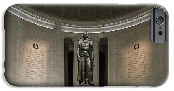 Capitol iPhone Cases - Thomas Jefferson Memorial at Night iPhone Case by Sebastian Musial