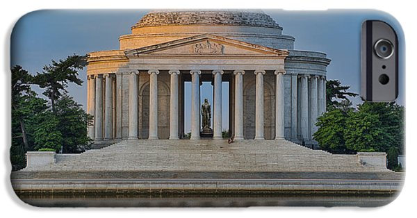 Thomas Jefferson iPhone Cases - Thomas Jefferson Memorial at Sunrise iPhone Case by Sebastian Musial