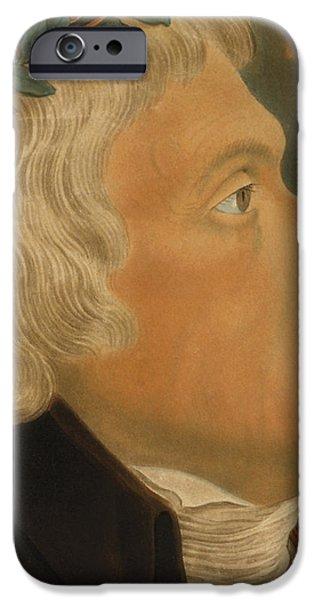 Thomas Jefferson iPhone Case by Michael Sokolnicki