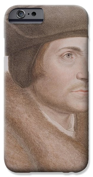 Statesmen iPhone Cases - Thomas More iPhone Case by Hans Holbein the Younger