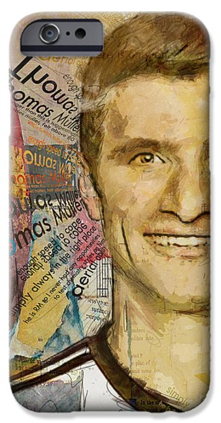 Bayern iPhone Cases - Thomas Muller iPhone Case by Corporate Art Task Force