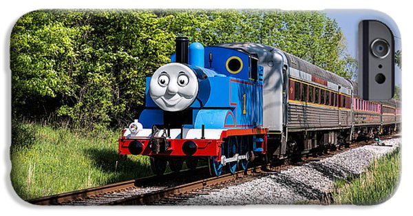 Storybook iPhone Cases - Thomas Visits The CVNP iPhone Case by Dale Kincaid