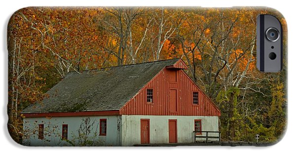 Grist Mill iPhone Cases - Thompson Neely Grist Mill - Bucks County PA iPhone Case by Adam Jewell