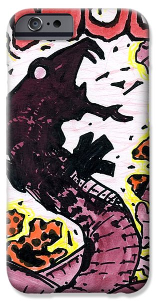 Serpent Pastels iPhone Cases - Thoom 1 iPhone Case by Matthew Howard