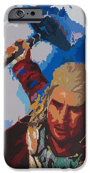 Hammer Paintings iPhone Cases - THOR - Bring The Thunder iPhone Case by Kelly Hartman