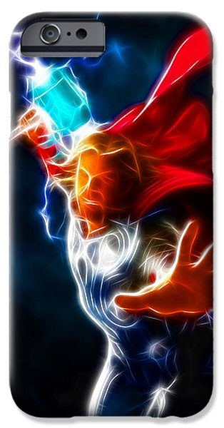 Ironman iPhone Cases - Thor God of Thunder iPhone Case by Pamela Johnson