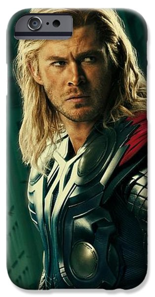 Thor iPhone Cases - Thor the Avenger iPhone Case by Movie Poster Prints